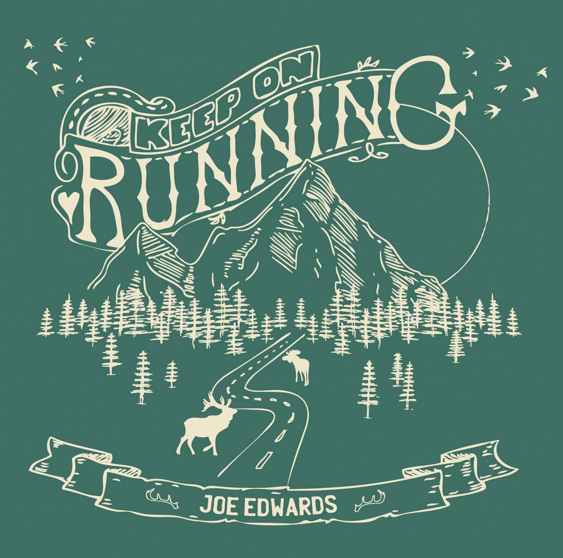 Joe Edwards - 'Keep On Running' - cover (300dpi)